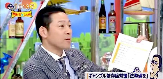 ワイドナショー画像 ギャンブル依存症のチェックシートで蛭子能収を診断する東野幸治 2015年9月20日