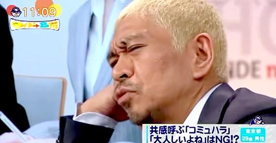 ワイドナショー画像 松本人志 ハラスメントのせいで何も言えなくなる「ハラスメントハラスメント」だと嘆く 2015年9月20日