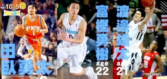 ワイドナショー画像 田臥勇太 富樫勇樹 渡邊雄太 海外で活躍するバスケ選手 2015年5月10日