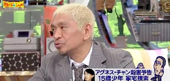 ワイドナショー画像 松本人志「ネットで中傷する人を呼んで仕事を見てもらえば大変さがわかるかも」 2015年9月27日