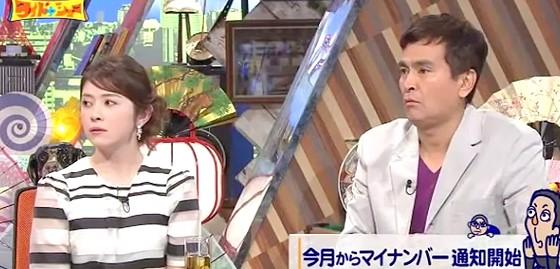 ワイドナショー画像 ラフルアー宮澤エマ 石原良純 マイナンバーカードについて質問 2015年10月4日