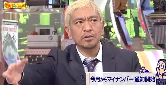 ワイドナショー画像 松本人志「マイナンバーカードはETCカードの導入と普及に似ている」 2015年10月4日
