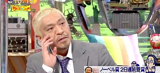 ワイドナショー画像 松本人志「村上春樹はノーベル文学賞の広告塔に使われておりそれは今後も続く」 2015年10月11日