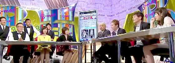 ワイドナショー画像 B面エンディング 傘を使わないという中居正広に松本人志「成功者は傘を買わない」 2015年10月18日