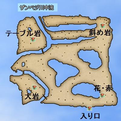 ザンベジ川中流地図