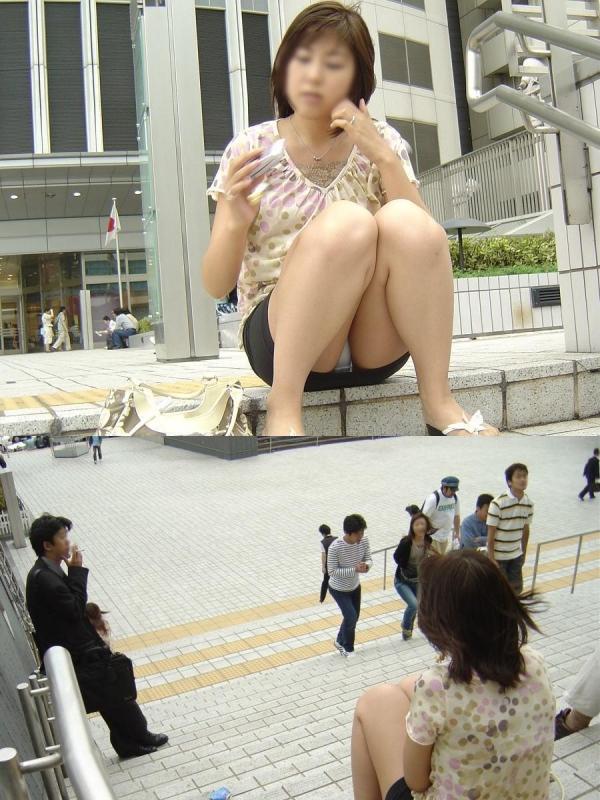 座りパンチラ画像 36