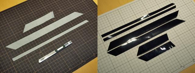窓枠のグロスブラック化2