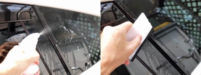 窓枠のグロスブラック化3