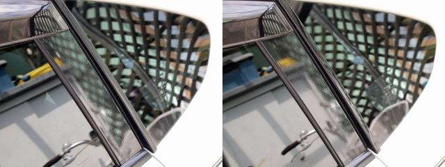 窓枠のグロスブラック化4