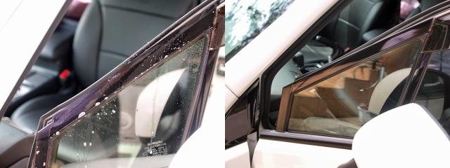 窓枠のグロスブラック化6