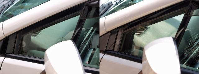 窓枠のグロスブラック化8