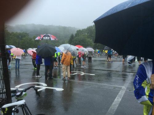 乗鞍当日雨模様