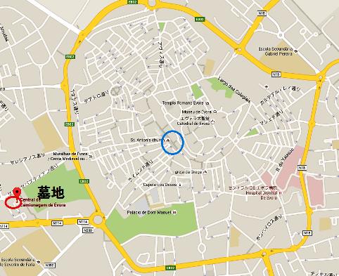 6地図 エヴォラ市内