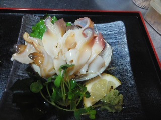 150903ほっき貝の刺身