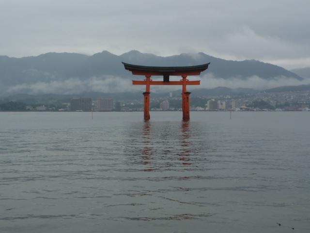 2015年8月31日 正午ごろの厳島神社