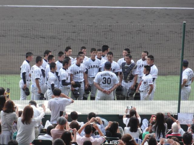 2015年9月4日 U-18W杯 日韓戦 試合前