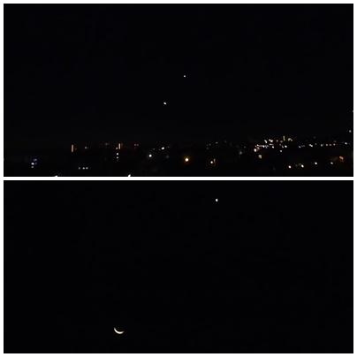 お月様と星