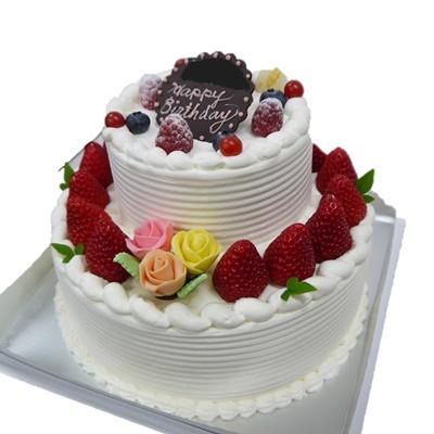 2段デコレーションケーキ 7号円形