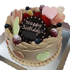 ハートチョコバースデーケーキ