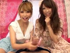 【やまぐちりこ&やまぐちりく】奇跡の姉妹の淫語スロー手コキでイク!