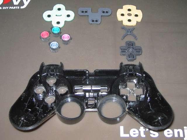 PS2 プレイステーション2 コントローラー DUALSHOCK 2 デュアルショック2 SCPH-10010 メンテナンス、分解作業 コントローラー本体上部プラスチックカバーからプラスチックボタン、十字キー、レバーサポートを取り外す