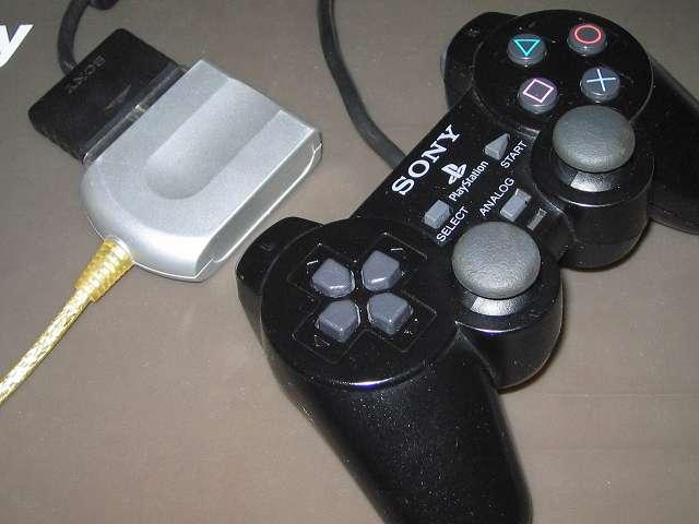 PS2 プレイステーション2 コントローラー DUALSHOCK 2 デュアルショック2 SCPH-10010 メンテナス後、USB ゲームパッドコンバータ JY-PSUAD1 を使って動作確認テスト