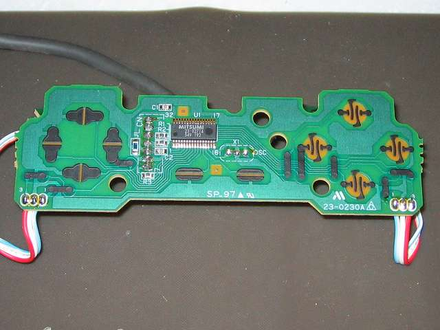 PS プレイステーションコントローラー PlayStation Controller SCPH-1080 メンテナンス、分解作業 基板のボタン接点 拡大撮影