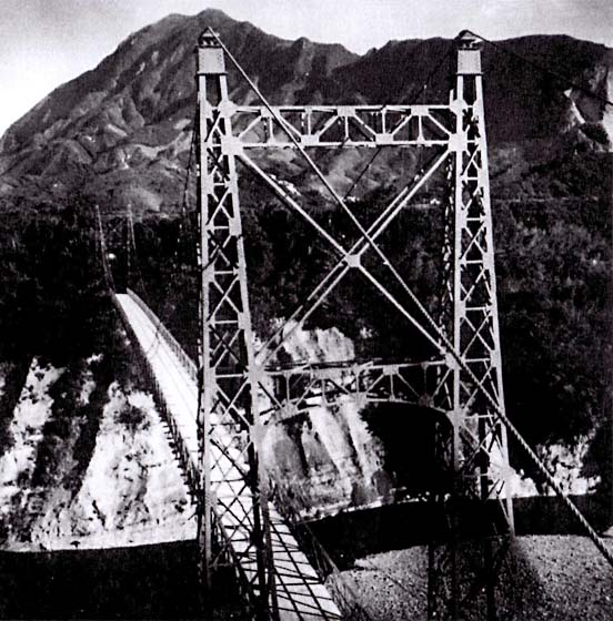 吊り橋の旧巴川橋