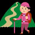 趣味(山登り女性