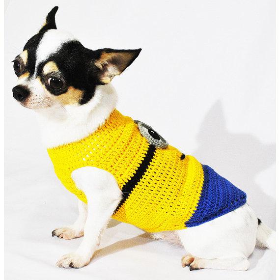 犬用ミニオンコスプレ衣装