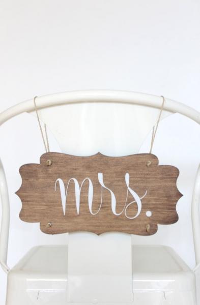 結婚式_椅子サイン_木