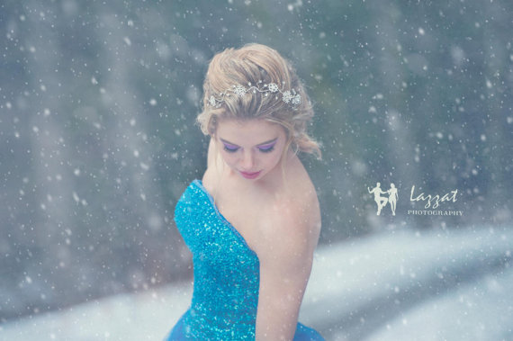 スノーフレーク雪の結晶_ティアラ_ヘッドアクセサリー