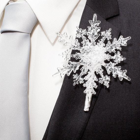 ブートニア_スノーフレーク_雪の結晶
