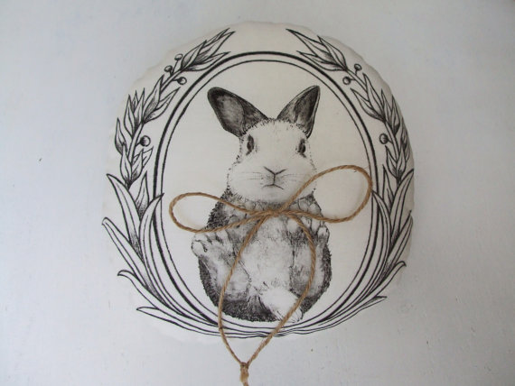 オーダーメイドウェディングピローウサギ