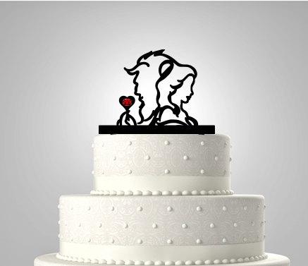 美女と野獣ケーキトッパー
