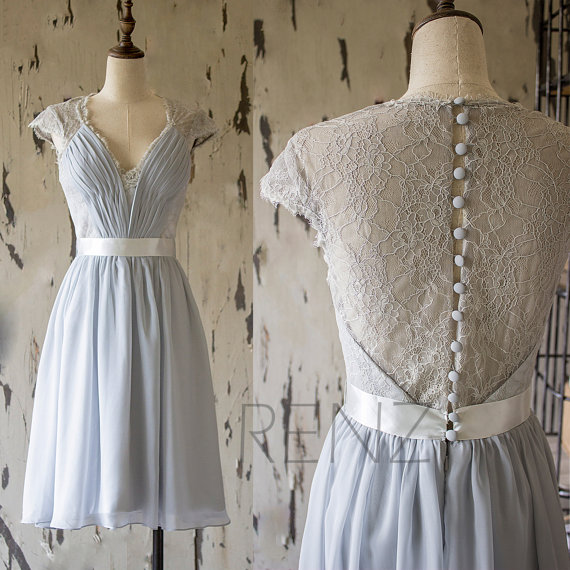 ペールブルーブライズメイドドレス