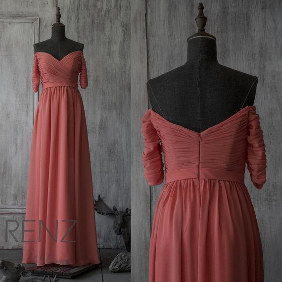大人レッドブライズメイドドレス