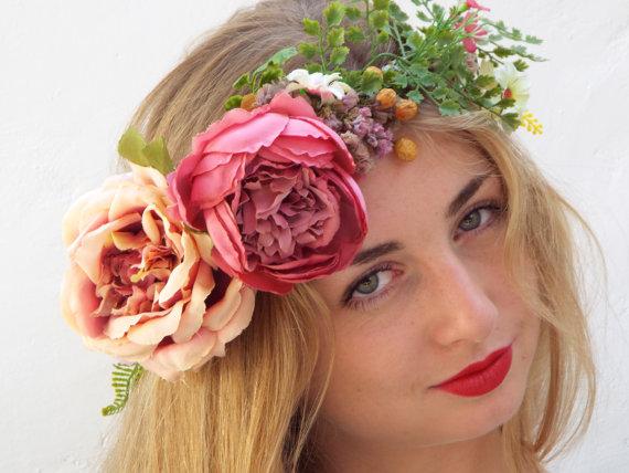 大きなお花の花冠