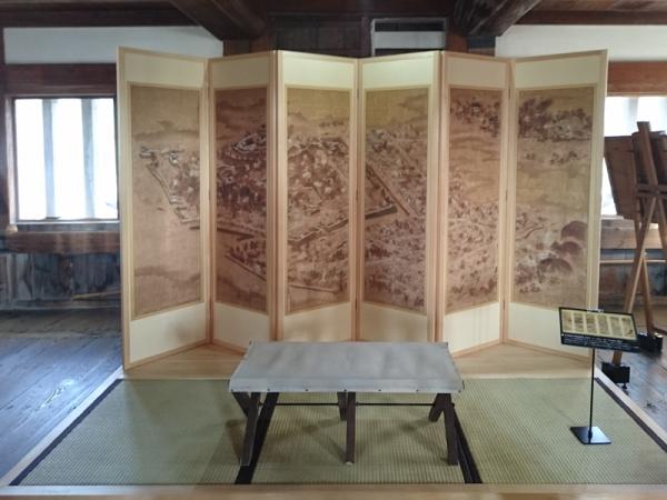 宇和島城古図屏風