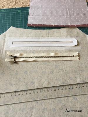 新作グラニーバッグ・内布にファスナーポケットを付けました