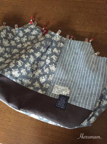 新作グラニーバッグはデコレクションズさんのリボンをたくさん使っています