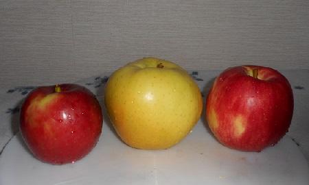 ①リンゴ3種
