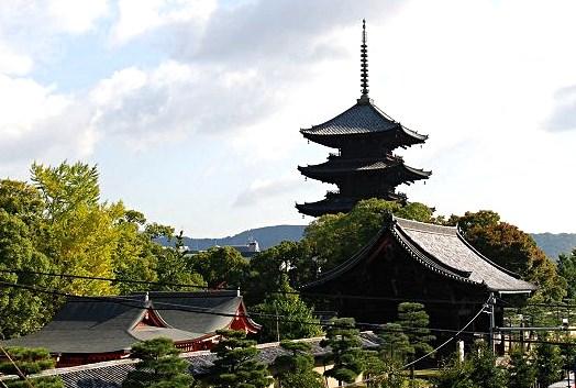 東寺伽藍・遠望
