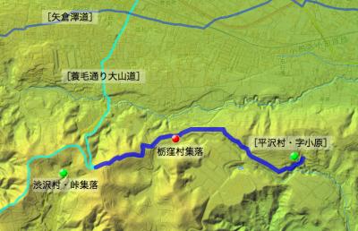 栃窪村の「小田原道」