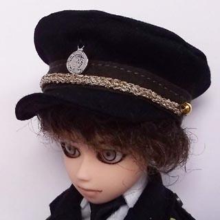 ミリタリー帽子黒 小