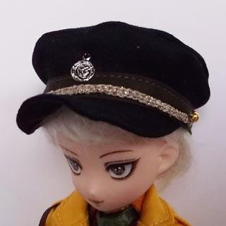 ミリタリー帽子黒 大