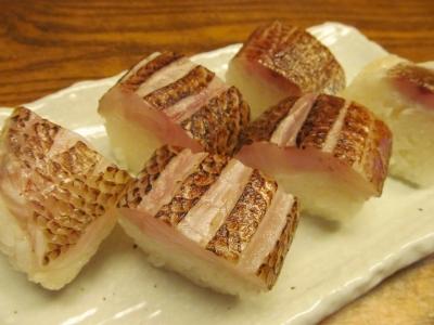 アカムツの棒寿司2