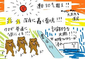 3年前の札幌の9月