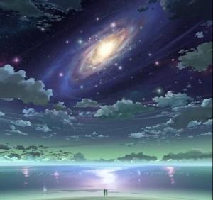 銀河の下の二人