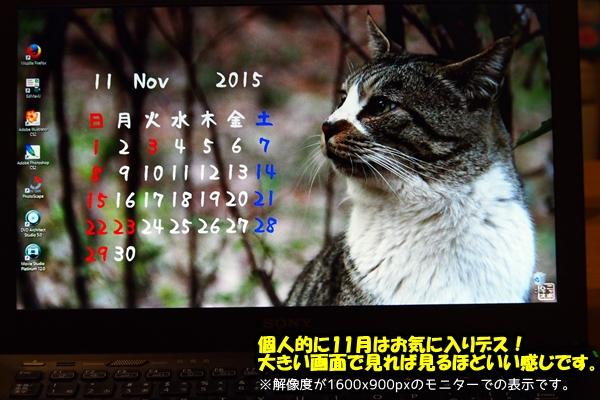 ニャポハウス11月カレンダー 参考用